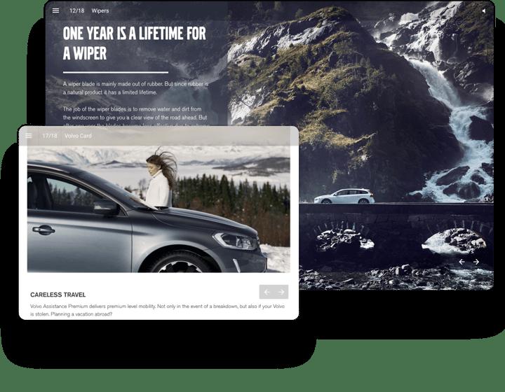 interactive example magazine volvo winter