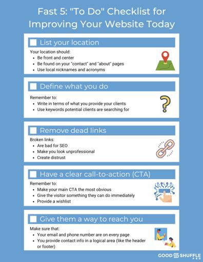 Improve my event website checklist