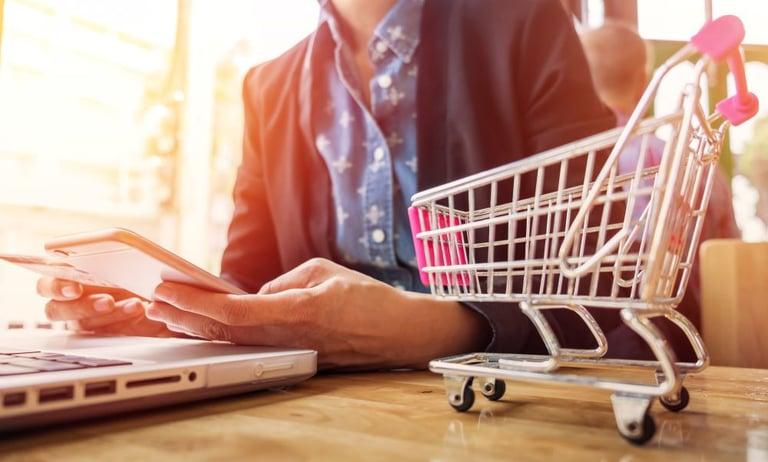 Imagem capa alusão texto compras na internet e redução da inadimplência nas vendas online