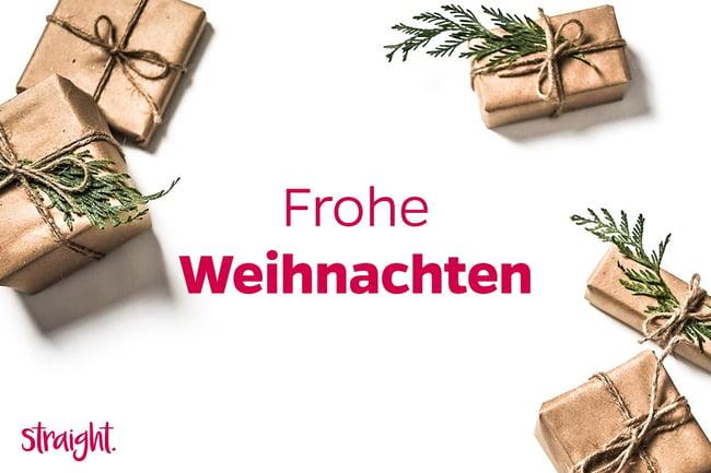 Frohe Weihnachten 2020 | straight. GmbH