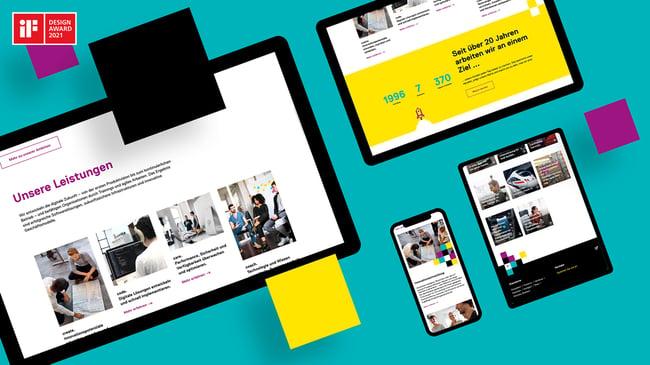 Website Design | iteratec | iF Design Award 2021 | straight.