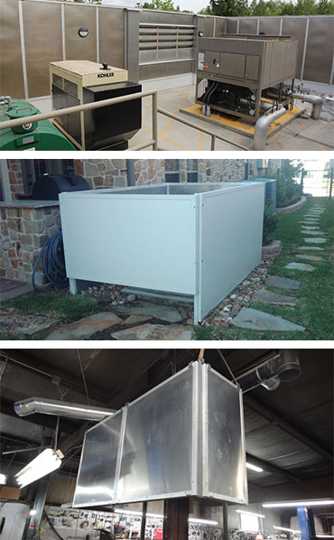 all weather sound panels used in commercial, industrial and residential settings