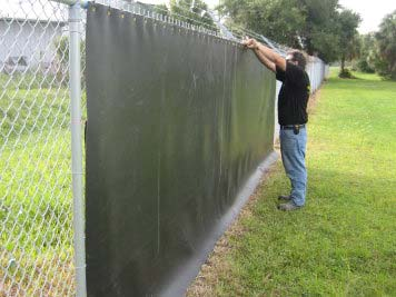 Acoustifence On Berm Reduces Outdoor Noise Pollution