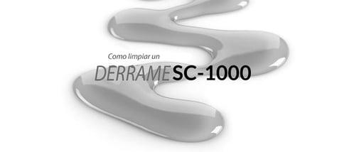 Cómo limpiar el SC-1000 derramado