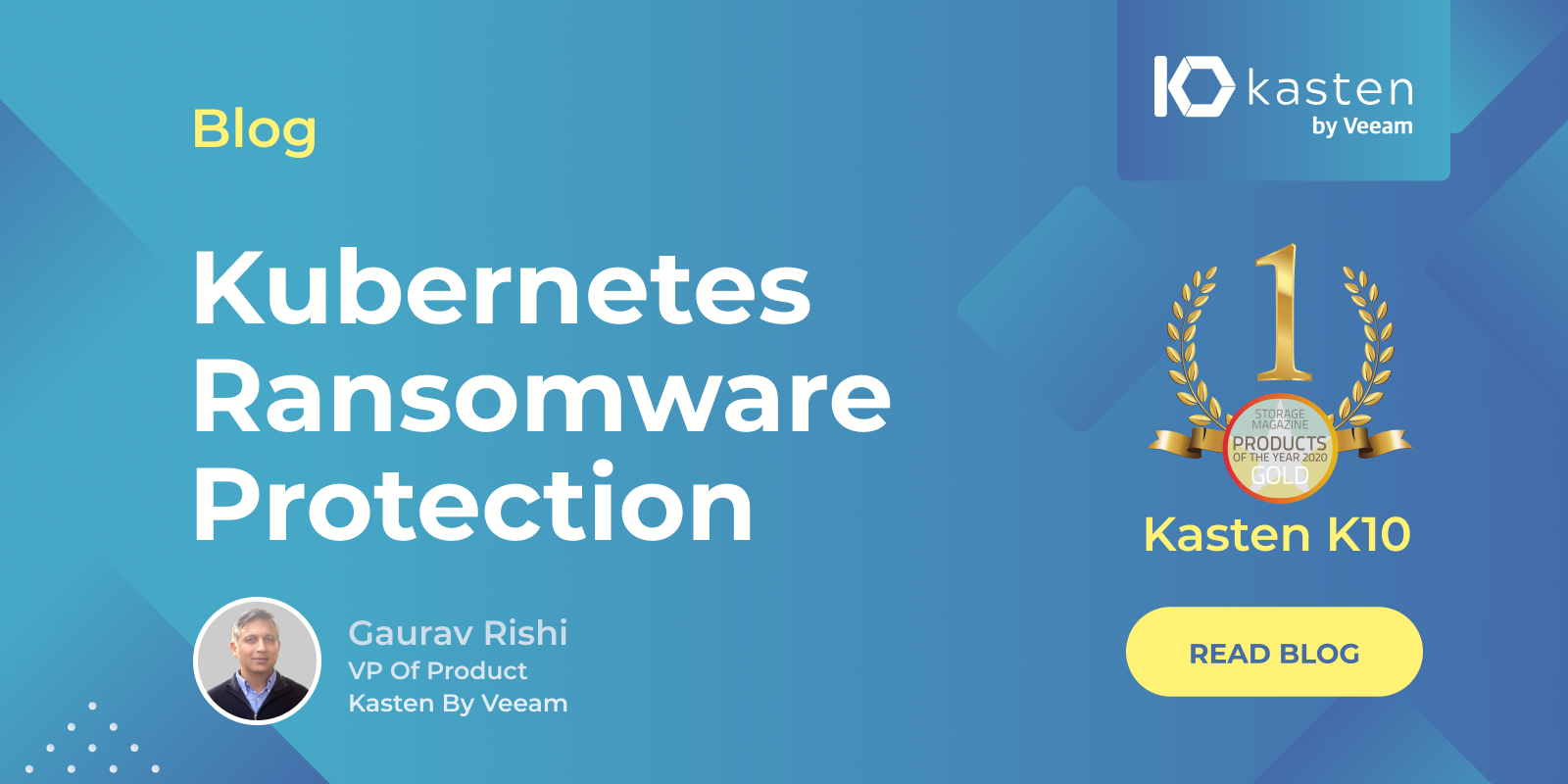 Goodbye to Ransomware: 2-Step Protection for Kubernetes Applications
