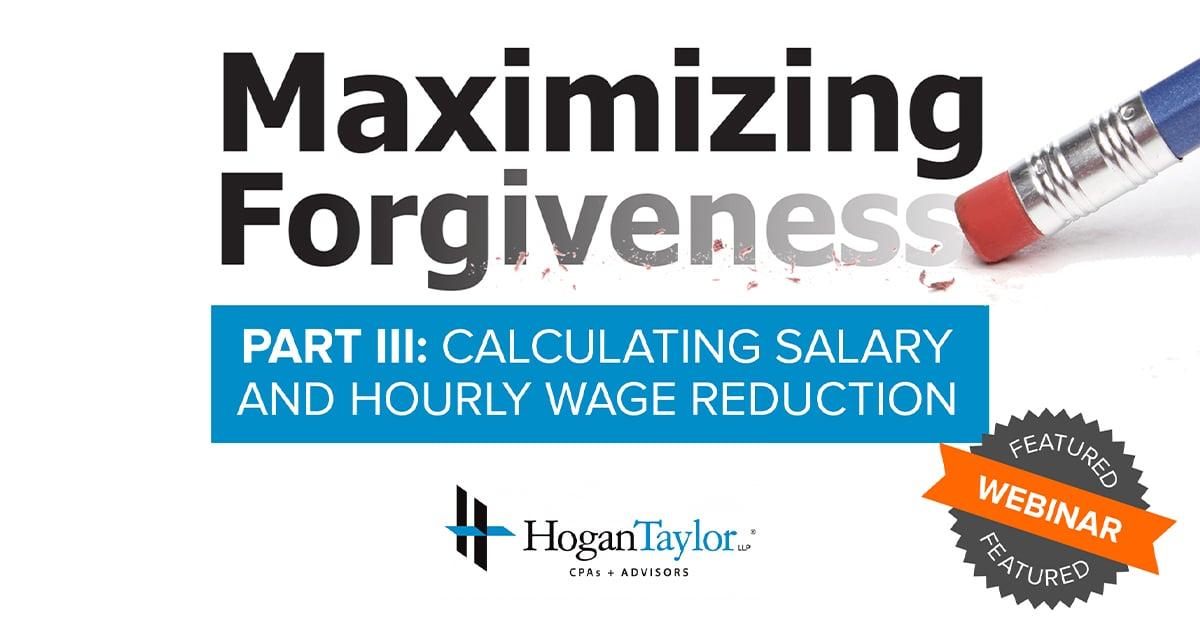 Maximizing Forgiveness III
