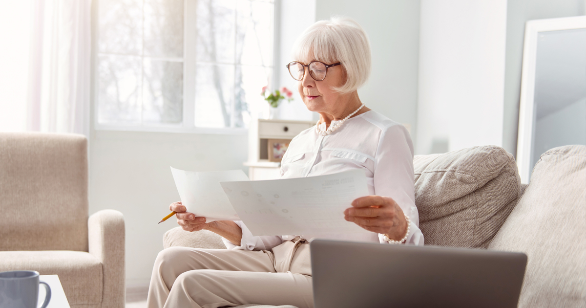 Woman calculating provisional income