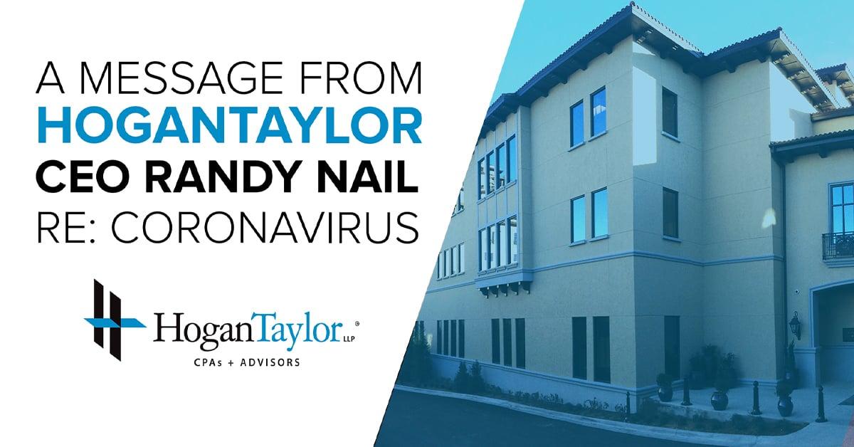 HoganTaylor Begins Remote Work