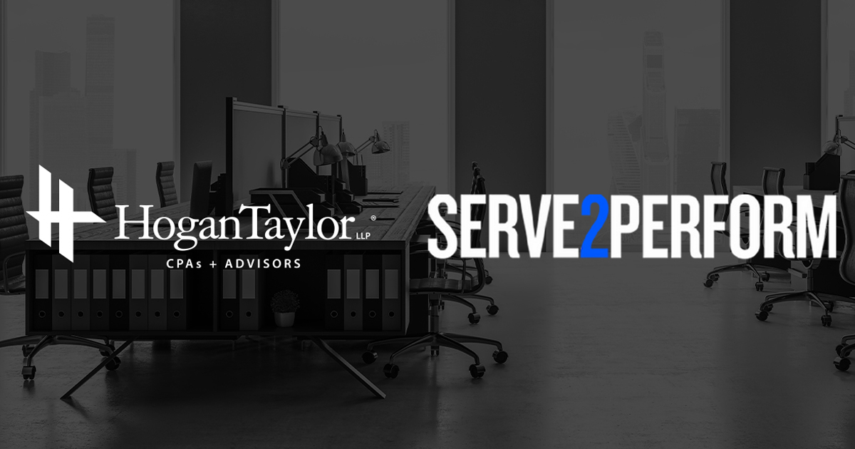 HoganTaylor and Serve2Perform logos