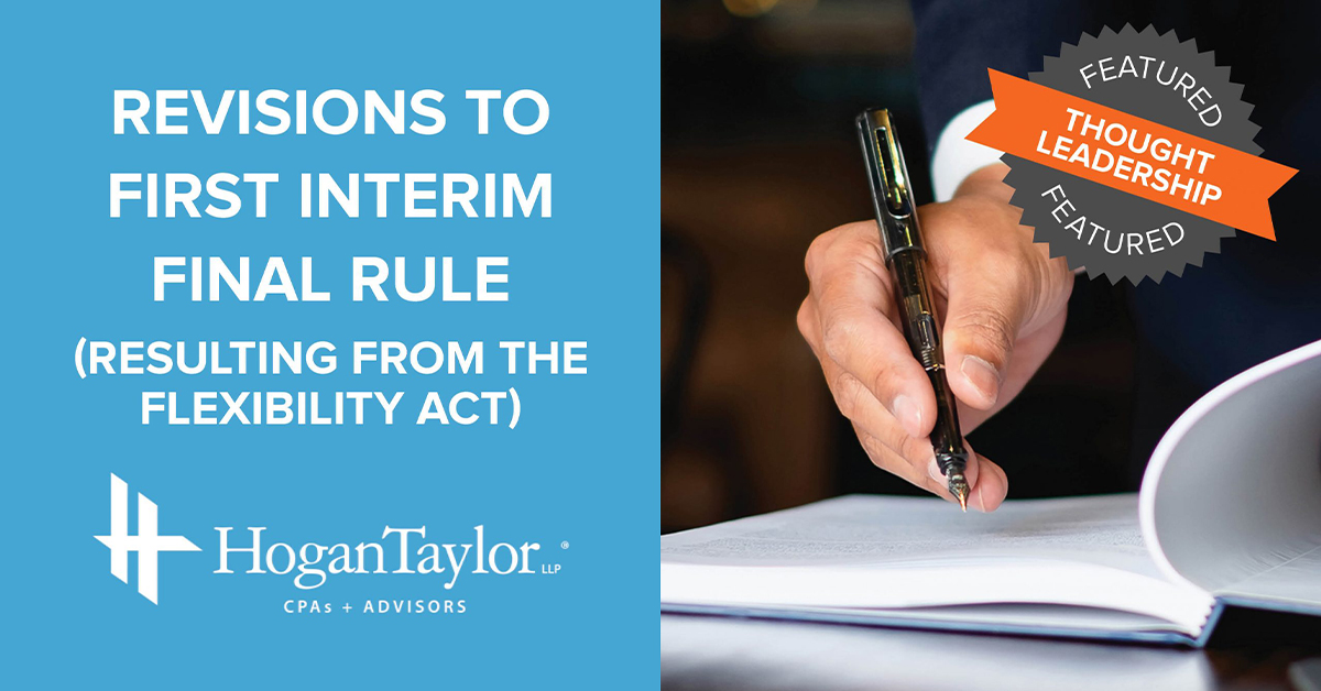 Revisions to Interim Rule