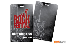 Event Badge TAG3501 Rock Festival by CARDSource