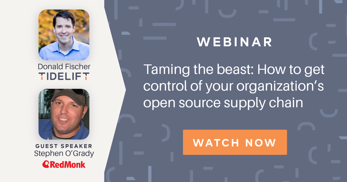 Taming the beast: How to get control of your organization's open source supply chain