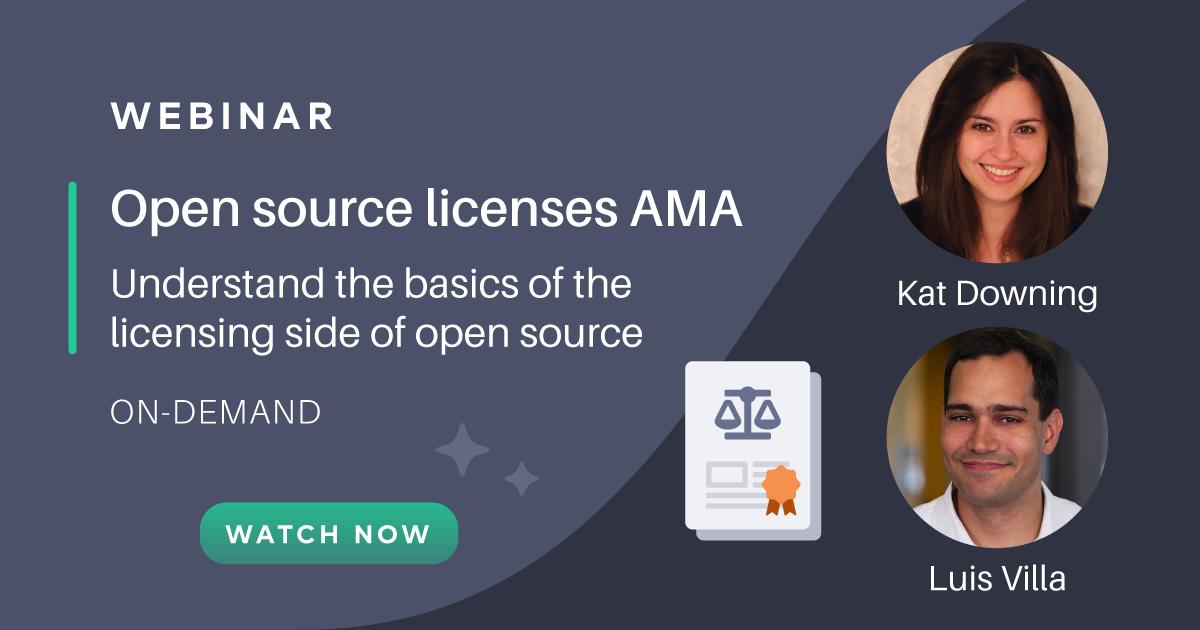 Open source licenses AMA