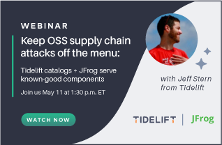 Keep OSS supply chain attacks off the menu: Tidelift catalogs + JFrog serve known-good components