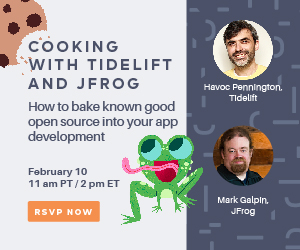 Cooking with Tidelift and JFrog: How to bake known good open source into your app development