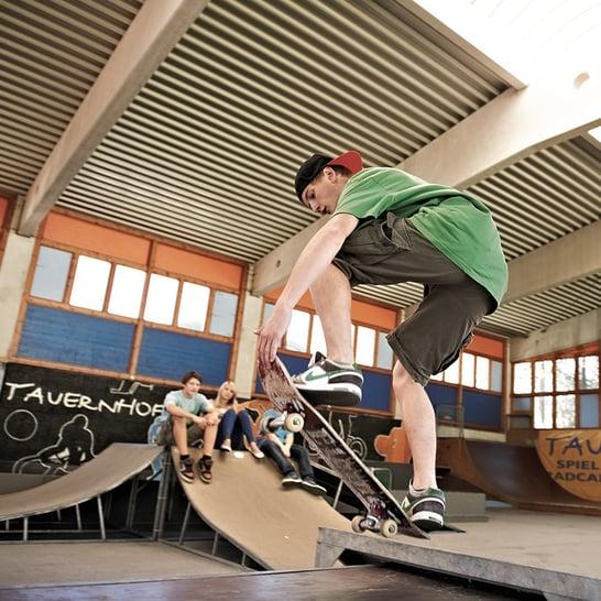 Skaten Funpark tauernhof in Flachau in Österreich