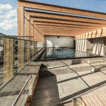 roof top pool tauernhof hotel in flachau