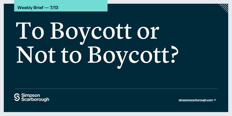 To Boycott or Not to Boycott?