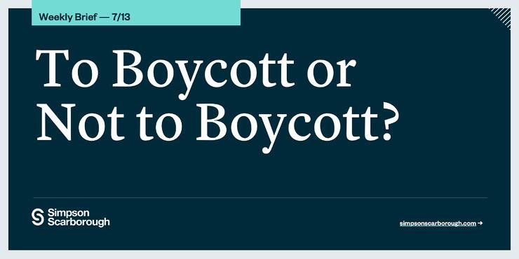 To Boycott or Not to Boycott