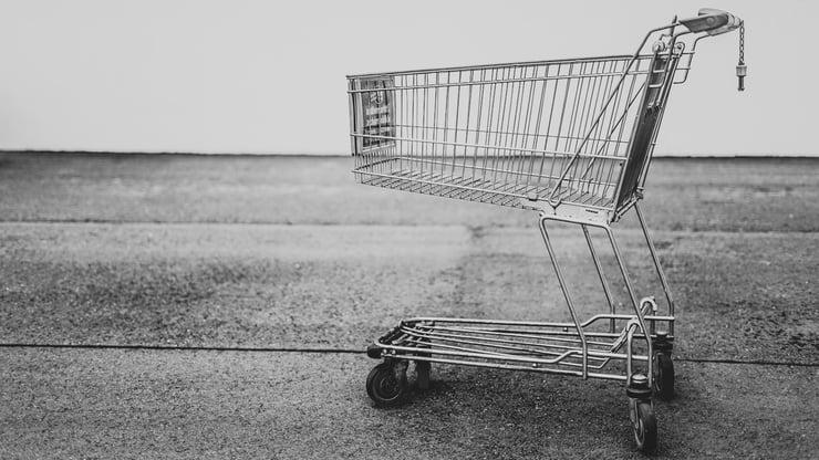 An empty shopping cart. Photo by Bruno Kelzer via Unsplash.