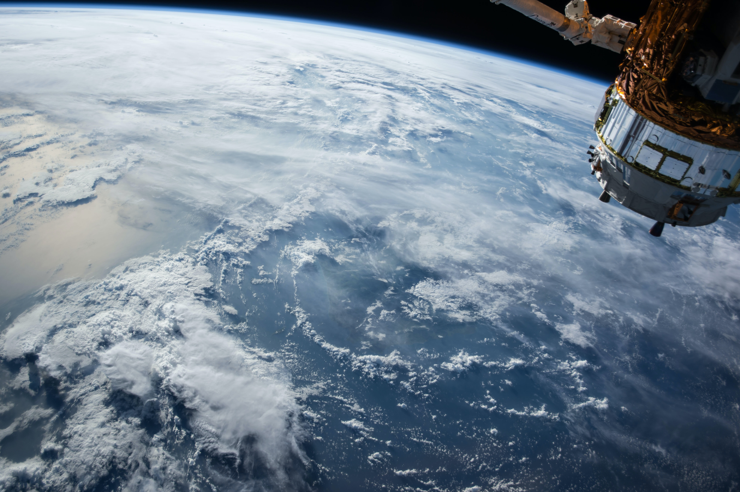 International Space Station orbiting earth. Photo by NASA on Unsplash.