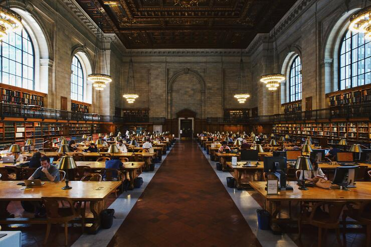 Students in a library. Photo by @RobertBye courtesy @Unsplash