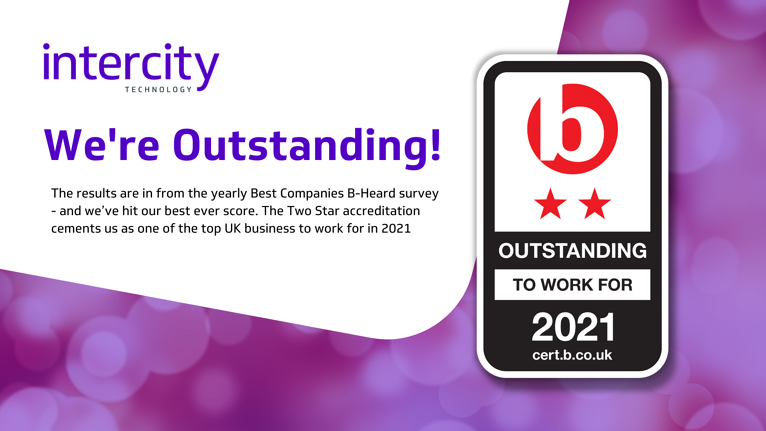 Intercity are 'Outstanding' - Best Companies 2*