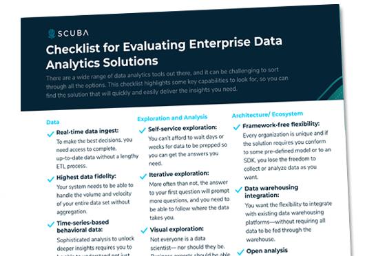 Checklist for Evaluating Enterprise Data Analytics Solutions