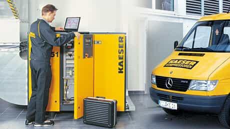 Assistenza kaeser compressori per la normativa f-gas