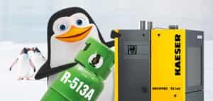 normativa f-gas e nuovo refrigrante kaeser R-513A