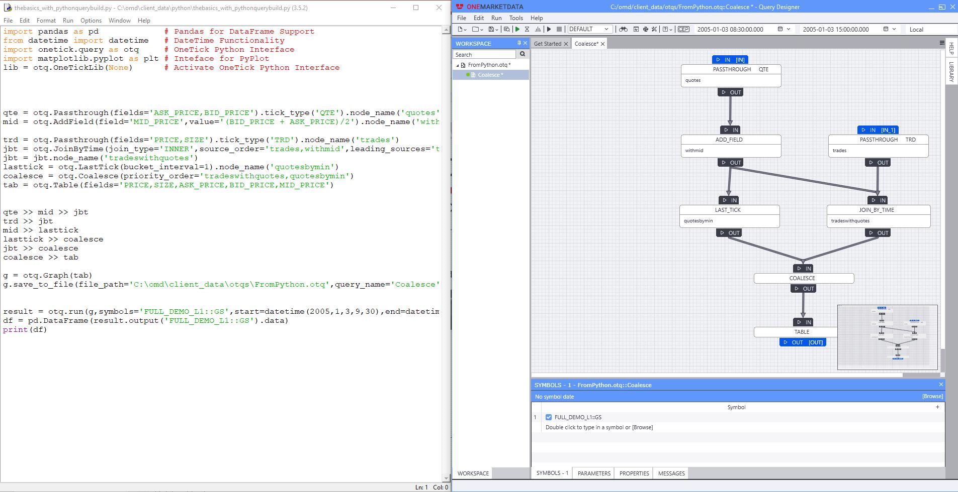 python_and_query_designer