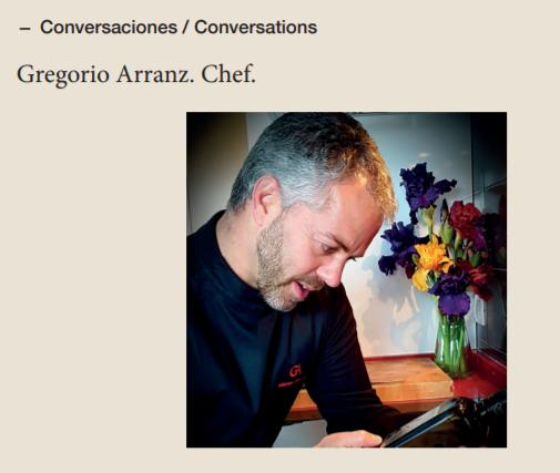 Conversaciones ESAO Guide: Chef Gregorio Arranz