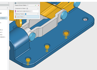 SOLIDWORKS Feature Driven Component Pattern