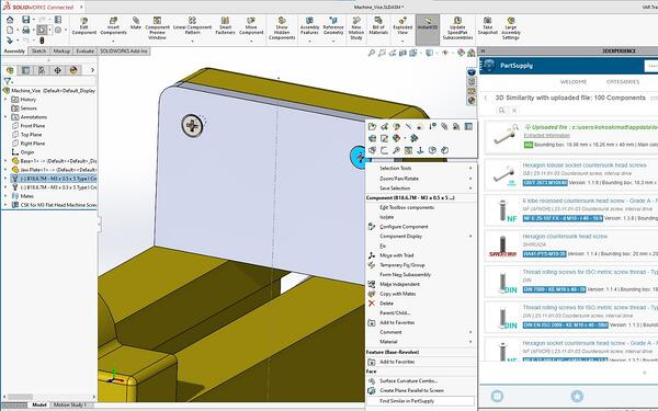 SOLIDWORKS Part Supply