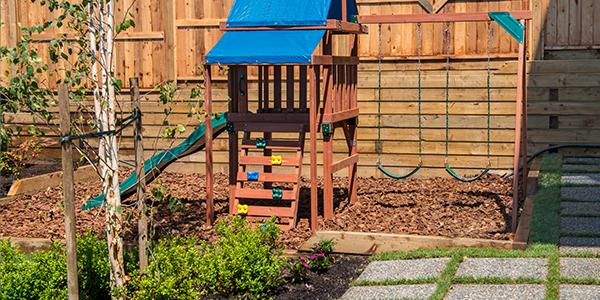 Installing Playground Mulch