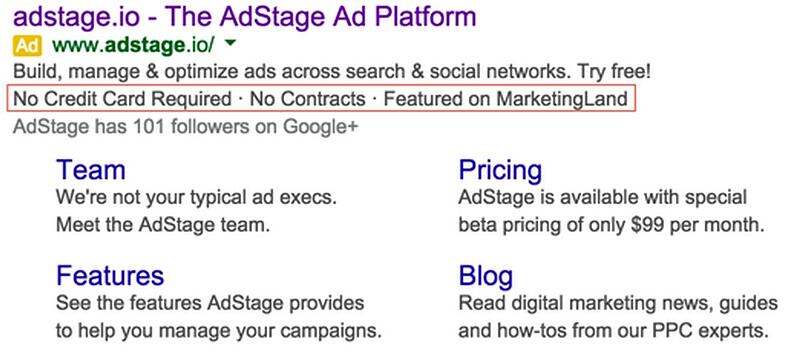 Use AdWords Callout Extensions to Strengthen Your Offer