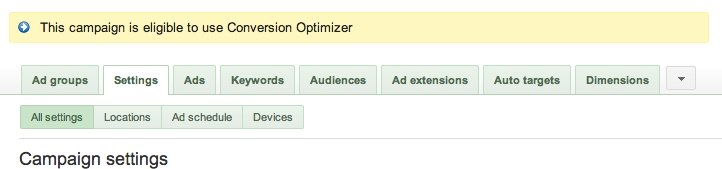 How To Set Up Google AdWords Conversion Optimizer