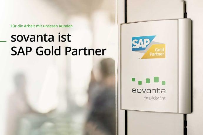 Ausgezeichnet: Die sovanta AG ist jetzt SAP Gold-Partner!