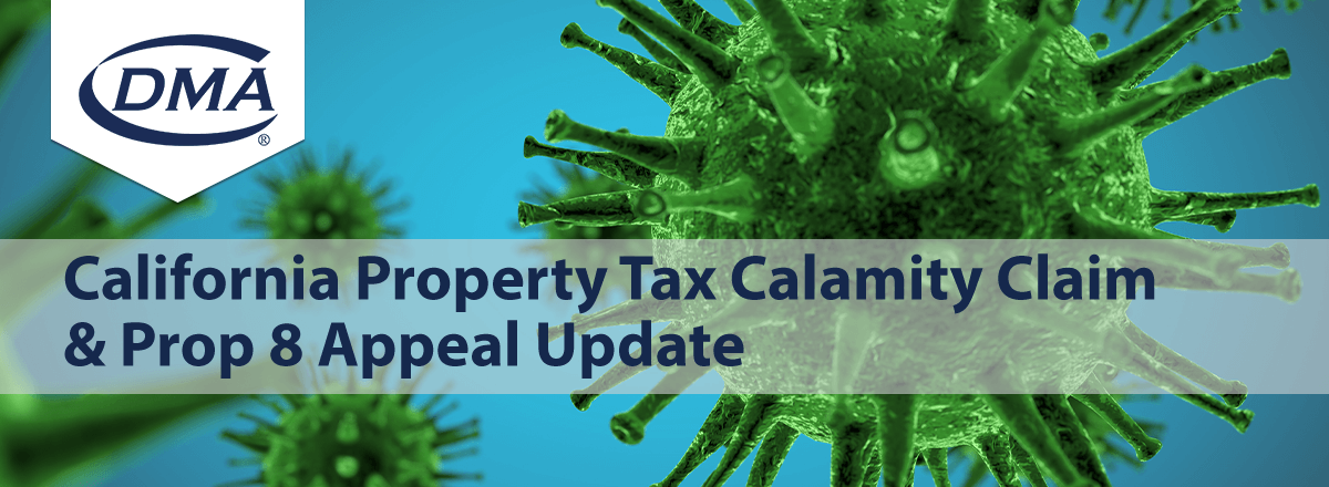 California Property Tax Calamity Claim Update