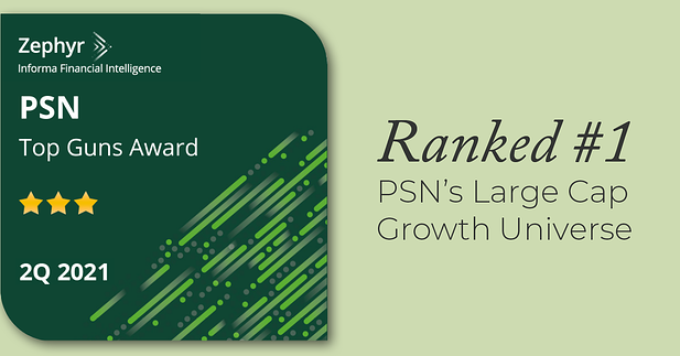 Evolutionary Tree's Flagship Innovation-Focused Strategy Ranks #1 Within PSN's Large-Cap Growth Universe