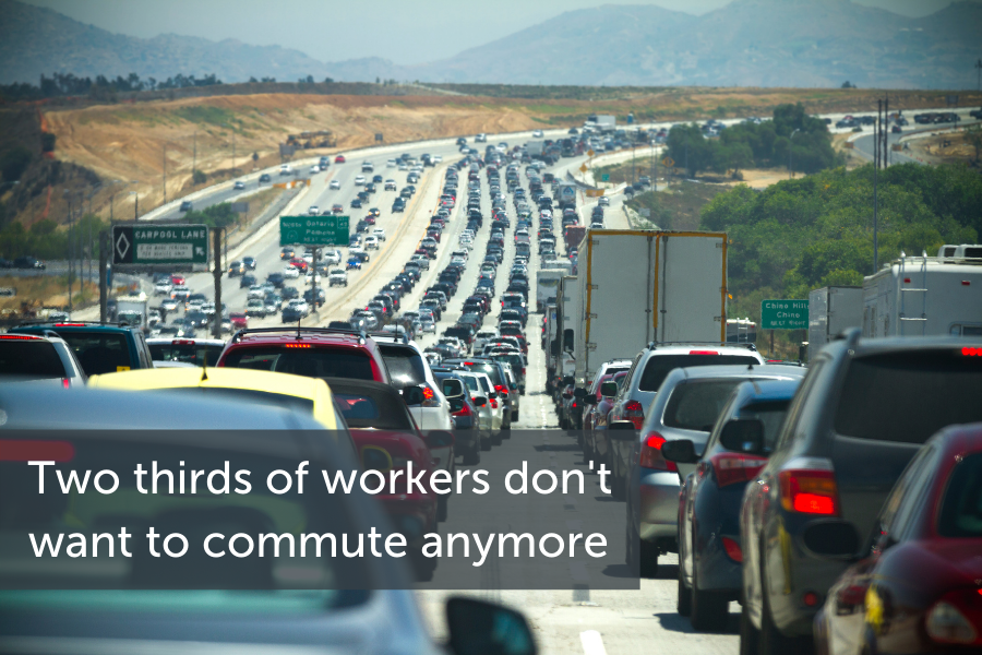 Two thirds of workers don't want to commute anymore.