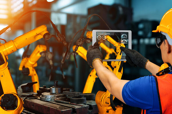 How can you easily introduce AI in manufacturing processes?