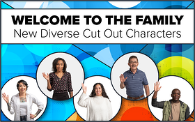 New Diverse Cut Out Characters for eLearning