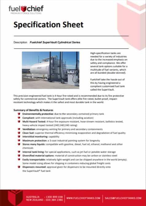 SuperVault Cylindrical Series - Spec Sheet Image