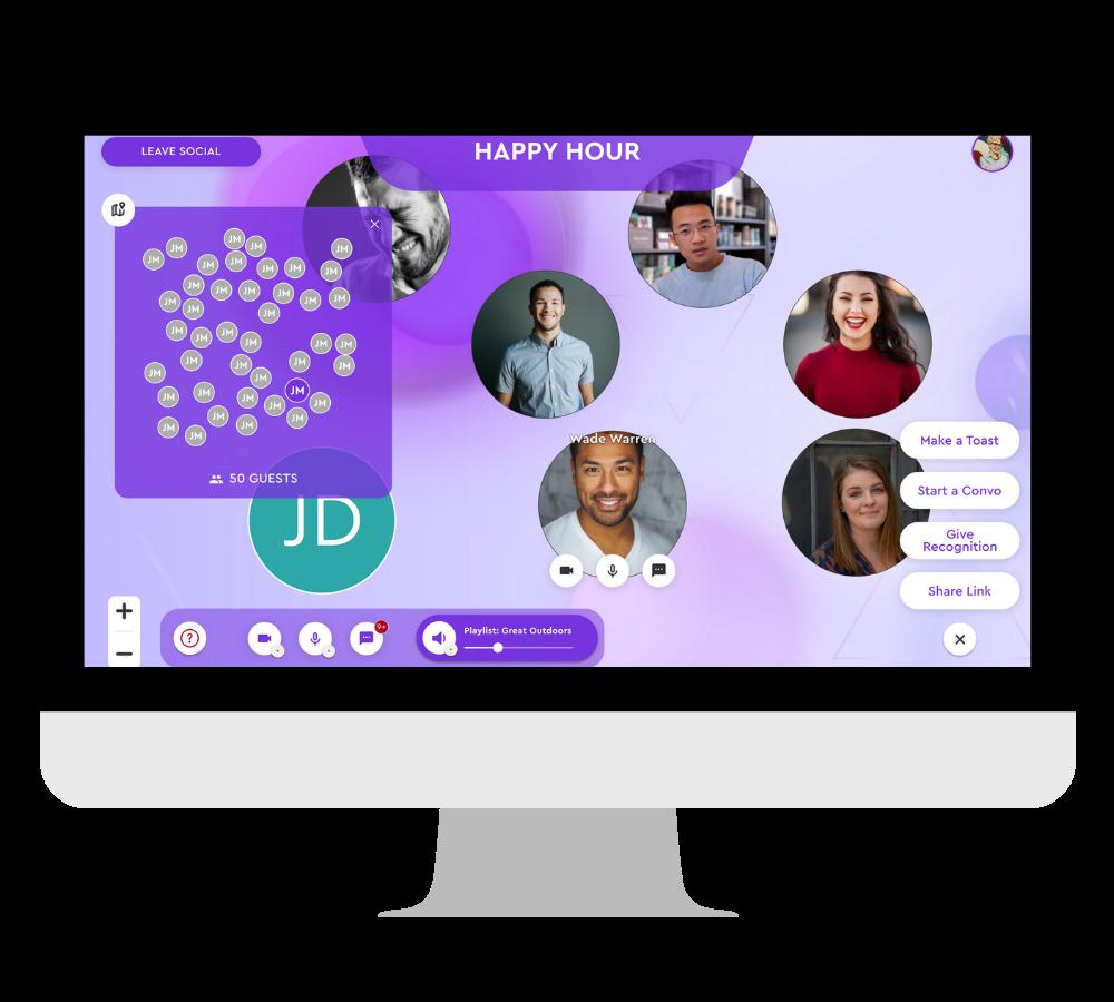 mingle in social l in desktop frame