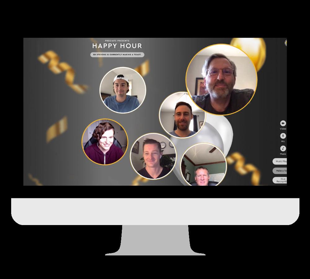 social toast in desktop frame