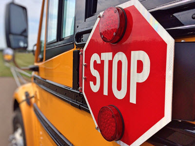 School bus, winter weather