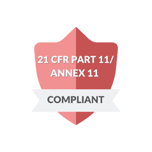 A red badge noting that ZenQMS is 21 CFR Part 11 Compliant