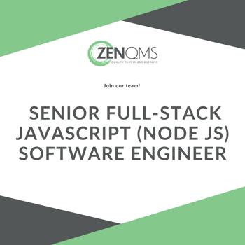 We're hiring at ZenQMS