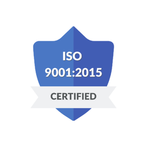 A blue badge noting that ZenQMS is ISO 9001:2015 Certified